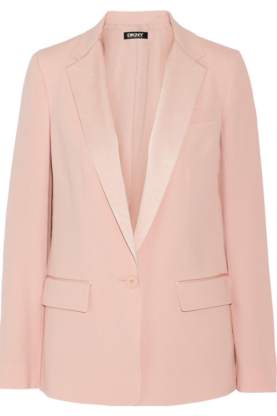 DKNY - Satin-trimmed crepe blazer - €390