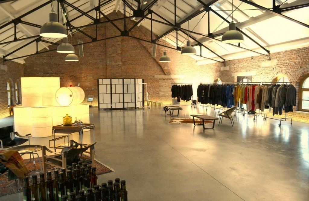 De showroom in Genk.