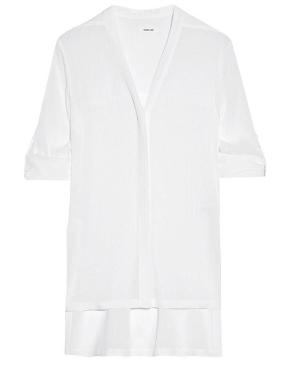 HELMUT LANG - Crinkled-gauze blouse - €285
