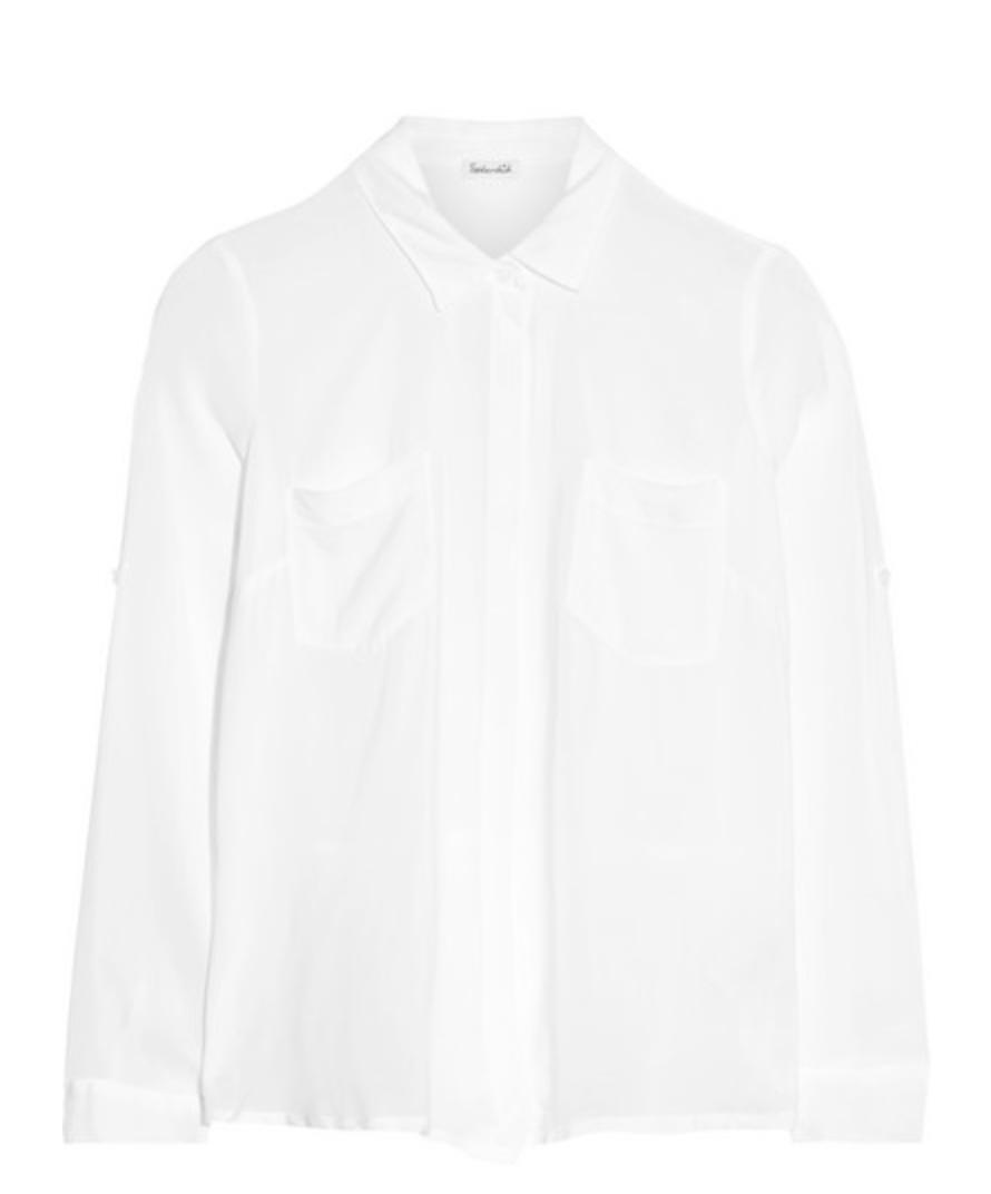 SPLENDID - Split-back voile shirt - €150