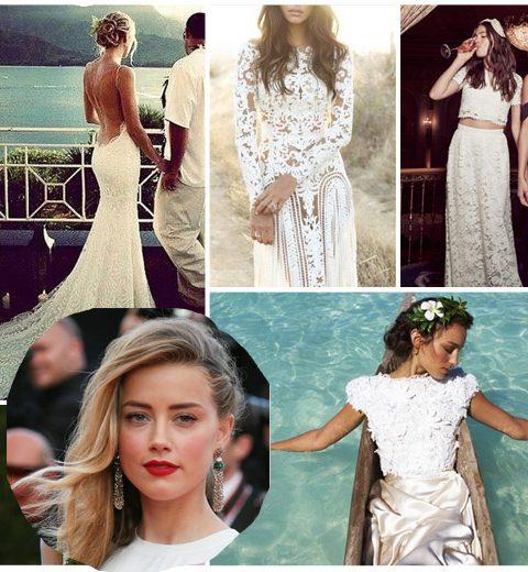 Amber Heard: 10 jurken voor een strandhuwelijk