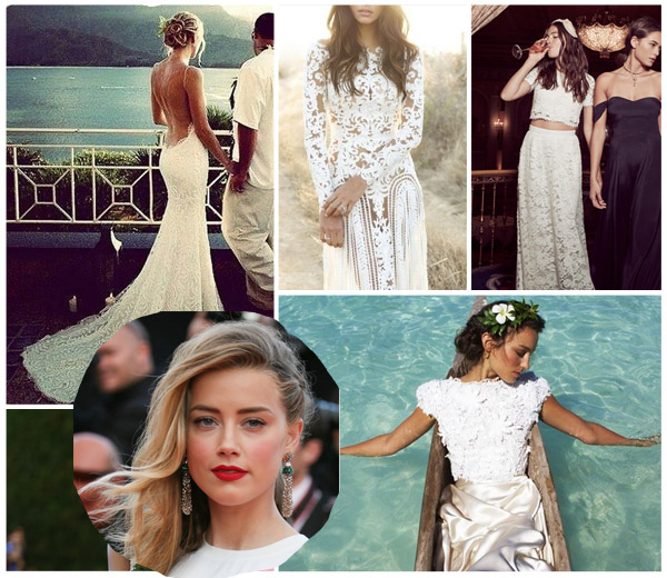 amber heard beach wedding