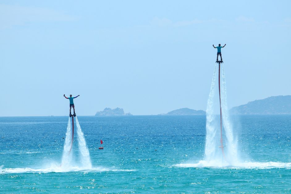 koppel, date, extreme sport, origineel, flyboard
