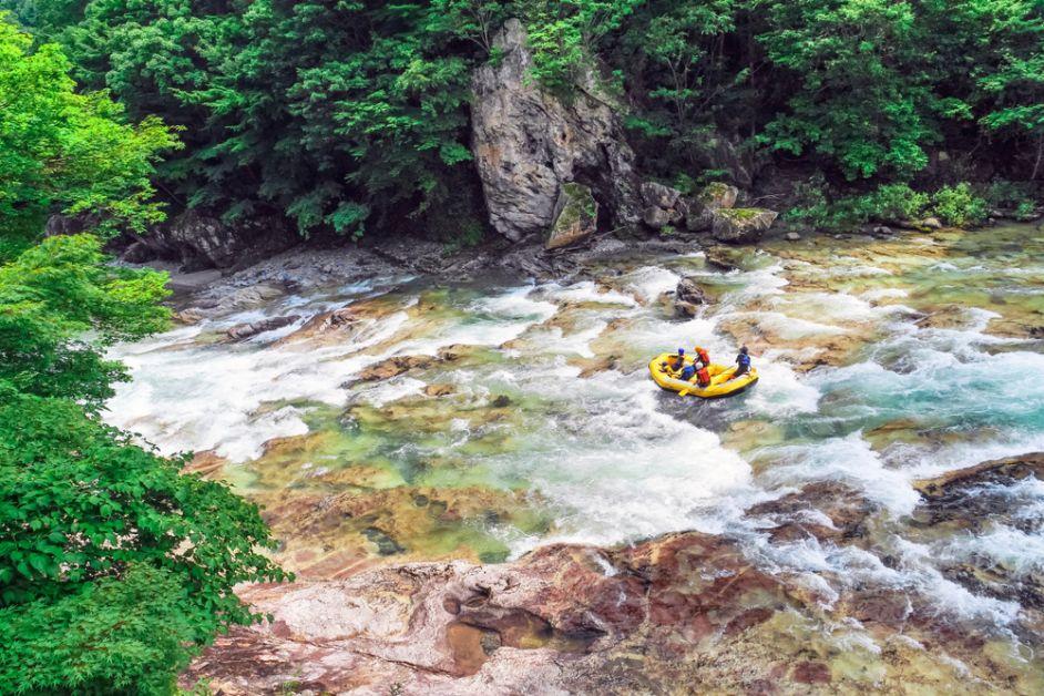 koppel, date, extreme sport, origineel, raft