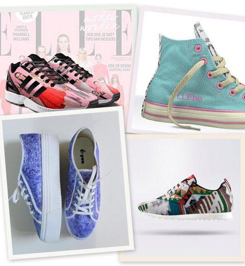 4x gepersonaliseerde sneakers