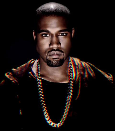 Kanye West draagt vintage Raf Simons