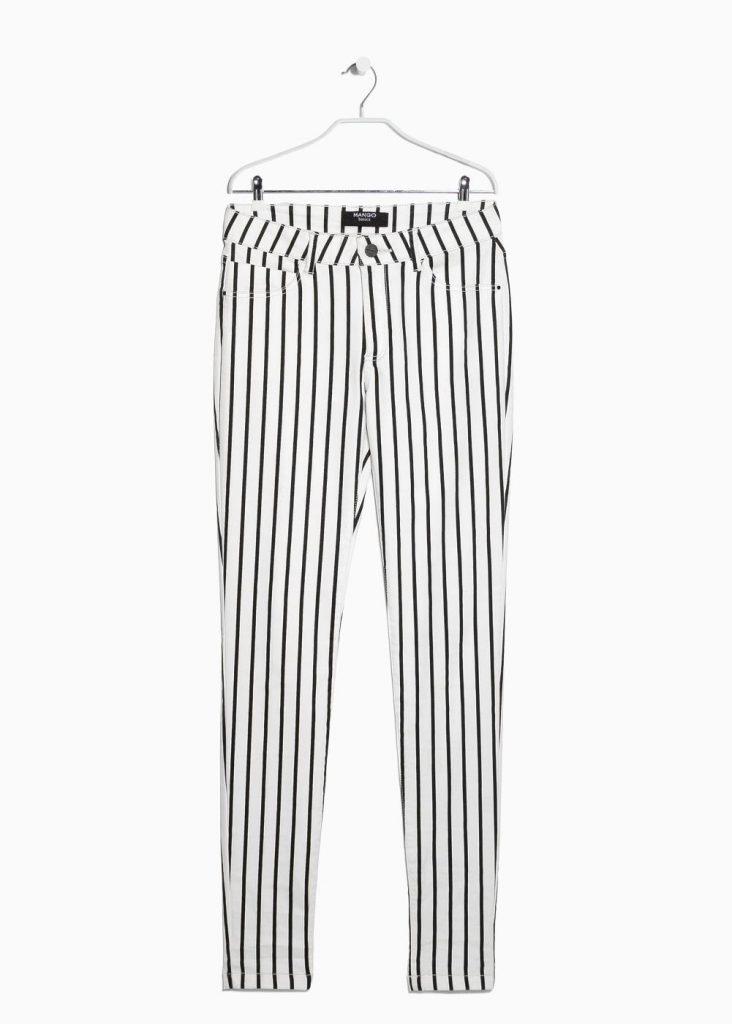Mango – gestreepte skinny broek – 29,99