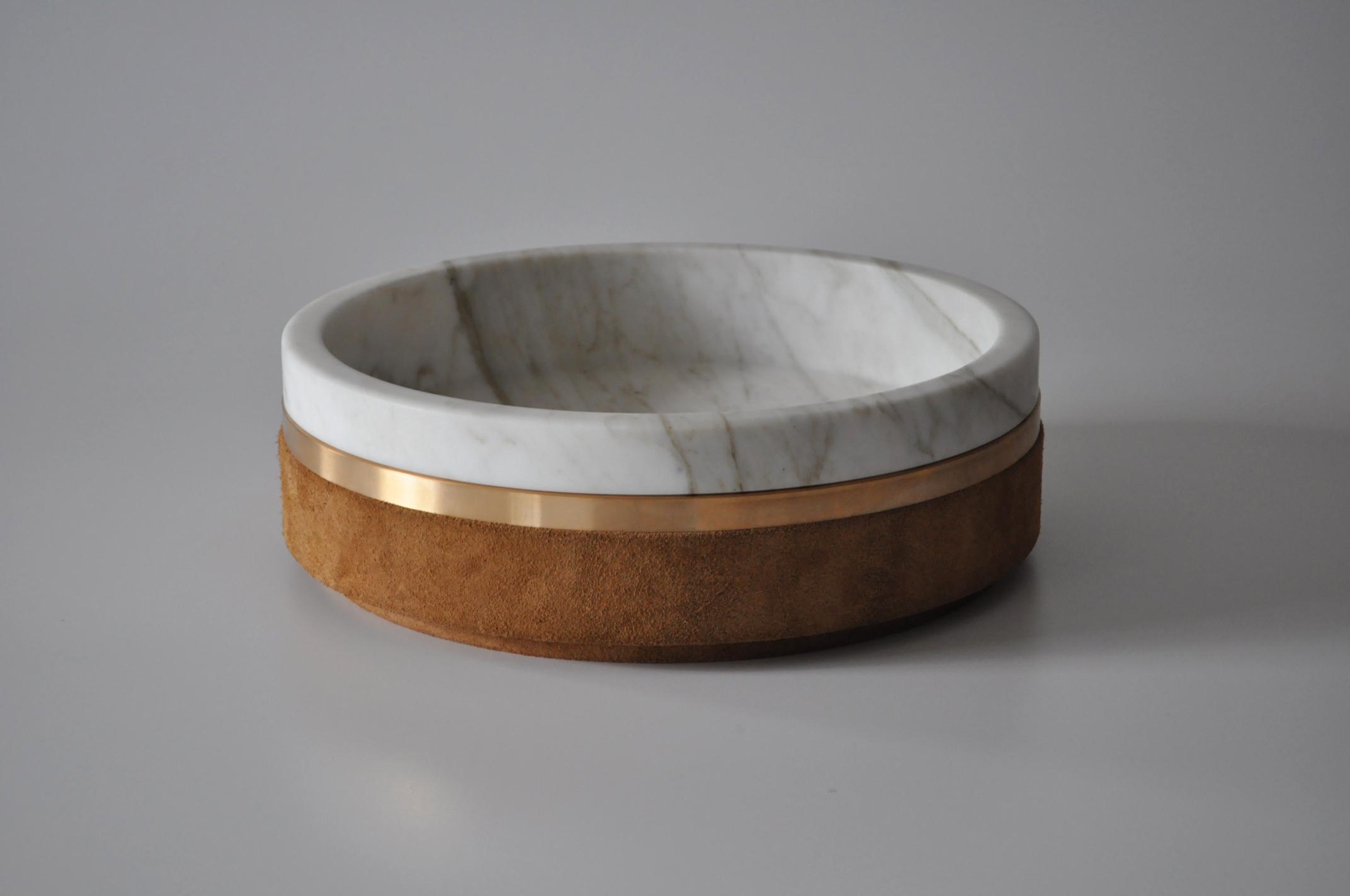 dure bowl calacatta & sand kopie