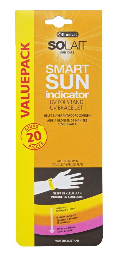 Solait Smart Sun Indicator UV polsbandje, € €11,99/20 stuks