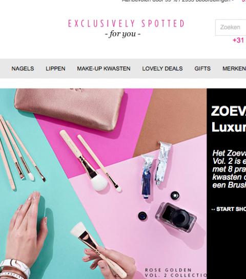 The Make Up Spot opent Belgische webshop