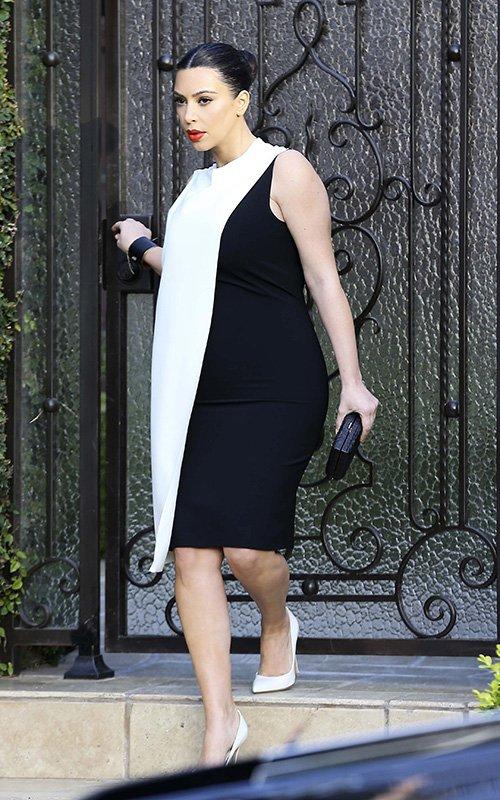 kim-kardashian-beverly-hills-cedric-charlier-sleeveless-colorblock-dress-1