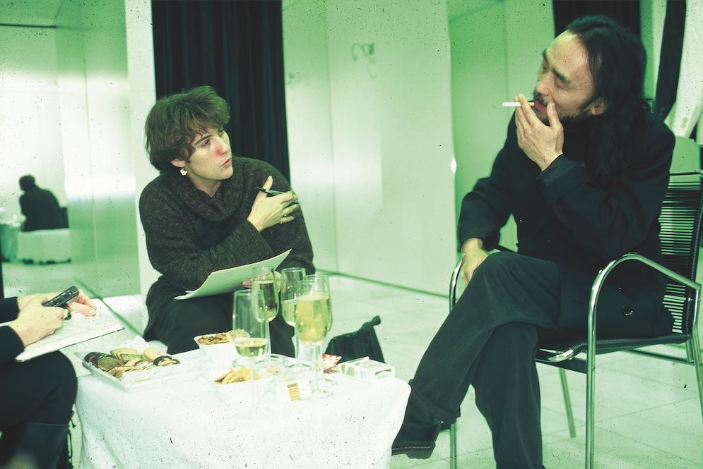 In gesprek met Yamamoto in Antwerpen.