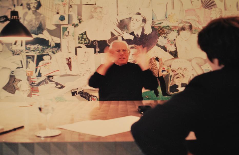 In volle actie met Giorgio Armani