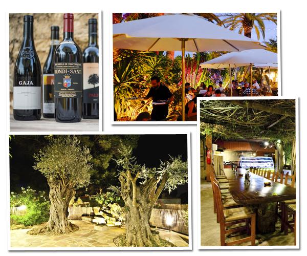Eten op ibiza 5 restaurants - Wijnstokken pergola ...