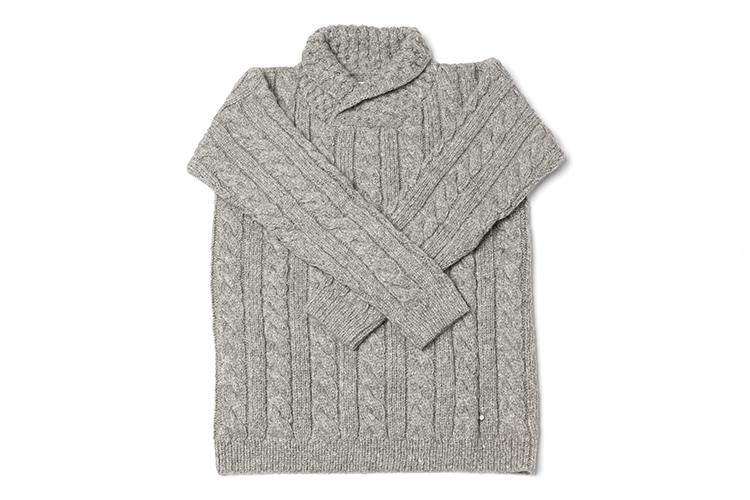 LN Beanies – cable collar sweater men – light grey – 375 euro (3)