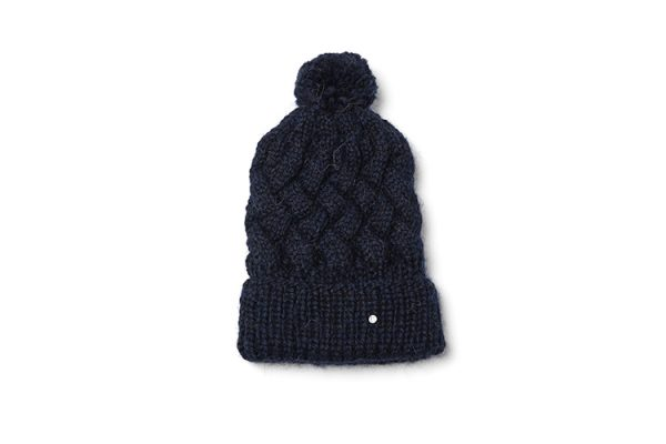 LN Beanies -cable pompon beanie – night blue – 115 euro