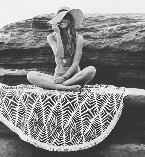 Beach trend: de ronde strandhanddoek