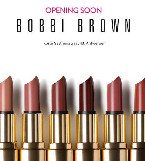 Bobbi Brown opent winkel in Antwerpen