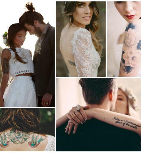 Pinspiration: ideeën voor tattoo bruidjes