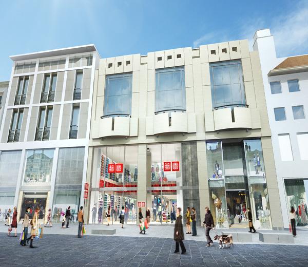 UNIQLO-winkel-Antwerpen-schets-modif