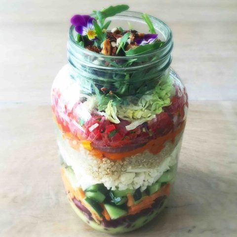 Healthy Take-Away Lunch: Detox Salade