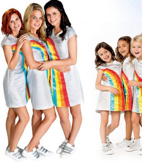 Regenboogjurk van K3 ook voor volwassenen