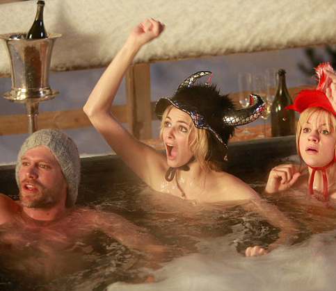 (From left to right) KEN DUKEN as Mikki, TAMSIN EGERTON as Georgie and GEORGIA KING as Jules in a scene from Chalet Girl released on 16th March 2011