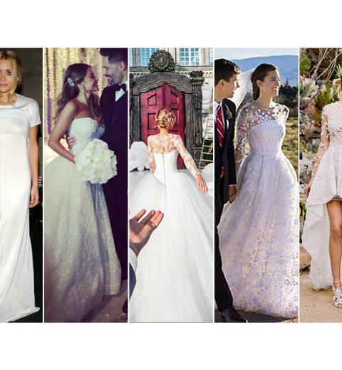 Top beroemde bruiden van 2015