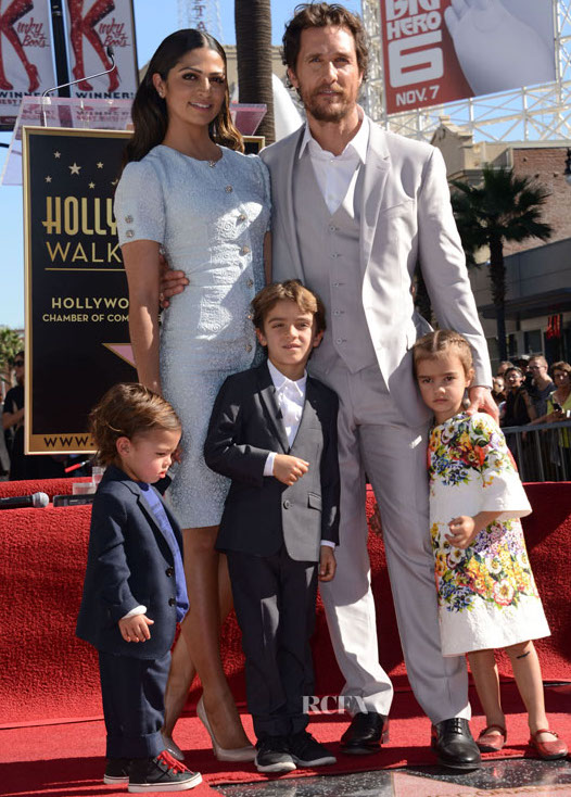 51587753 Celebrities attend The Hollywood Walk Of Fame ceremony for Matthew McConaughey on November 17, 2014 in Hollywood, California. Celebrities attend The Hollywood Walk Of Fame ceremony for Matthew McConaughey on November 17, 2014 in Hollywood, California. Pictured: Camila Alves, Matthew McConaughey, Levi McConaughey, Livingston McConaughey, Vida McConaughey FameFlynet, Inc - Beverly Hills, CA, USA - +1 (818) 307-4813 RESTRICTIONS APPLY: NO FRANCE
