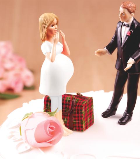 """""""Ik ben gescheiden, getrouwd en bevallen op één dag"""""""