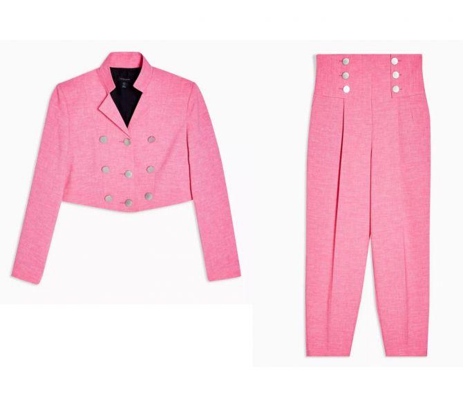 kostuum roze topshop