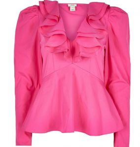 river island roze top