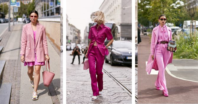 roze outfit inspiratie kostuum shopping trend