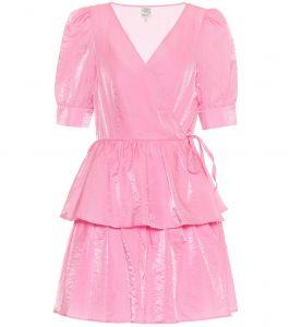 satijnen jurk roze
