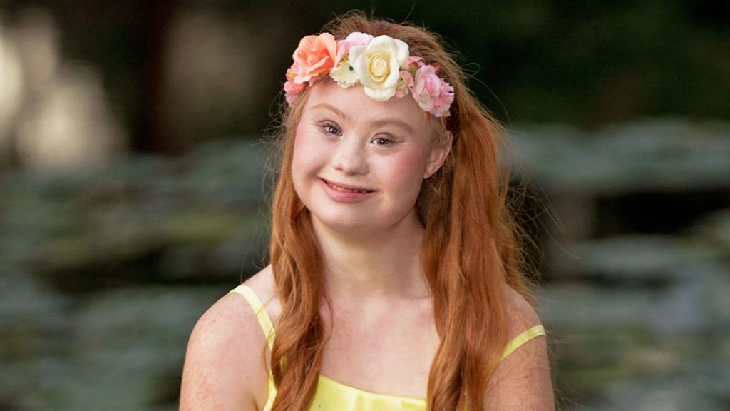 Madeline Stuart, a young woman with Down syndrome who is the face of a new fashion brand, everMaya.