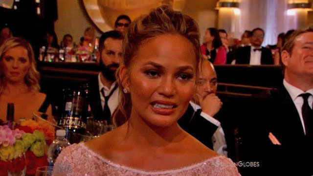 Chrissy Tteigen_crying_golden_globes