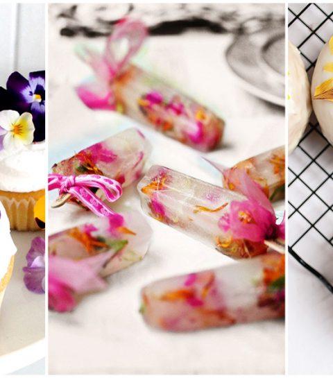 10 desserts met eetbare bloemen