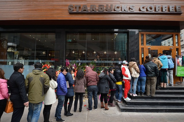 First-Starbucks-Opens-In-Taiyuan