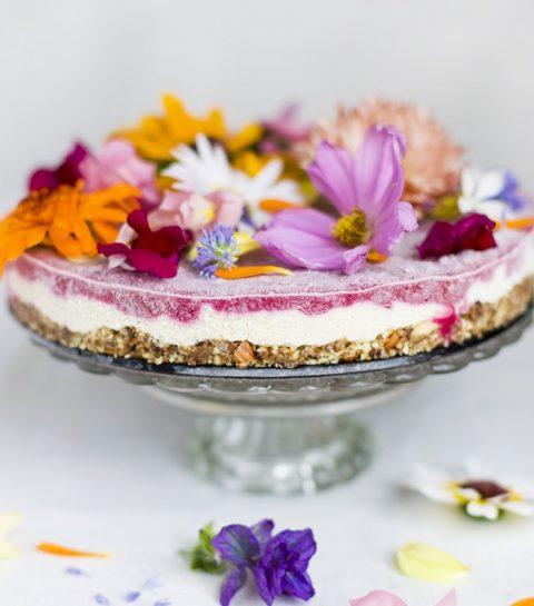 Eetbare bloemen: flower power cake