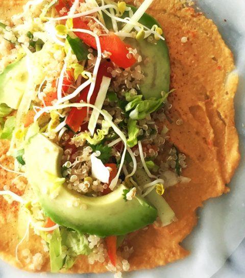 Mexicaanse Wraps met Gerookte Cashewkaas & Quinoa