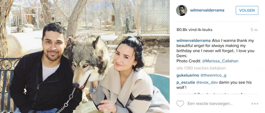 Huidige vriendin Demi Lovato met wie hij al sinds 2010 een relatie heeft.