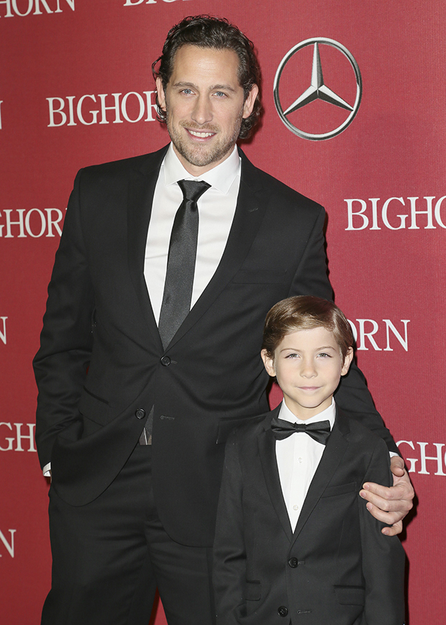PALM SPRINGS, CA - JANUARY 02: Actor Jacob Tremblay (R) and his father (L) attend the 27th Annual Palm Springs International Film Festival Awards Gala at the Palm Springs Convention Center on January 2, 2016 in Palm Springs, California. (Photo by David Livingston/Getty Images)