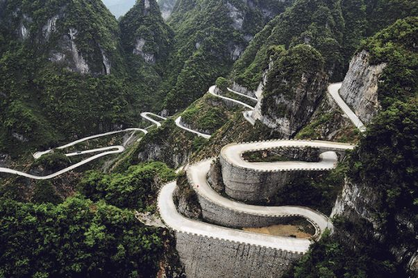 Mountain road, China
