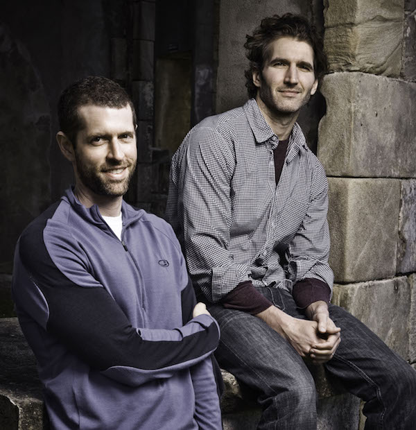 ***SUNDAY CALENDAR STORY FOR APRIL 6, 2014. DO NOT USE PRIOR TO PUBLICATION**********Dan Weiss and David Benioff, creators of the show Game of Thrones. Photo by Helen Sloan/HBO.