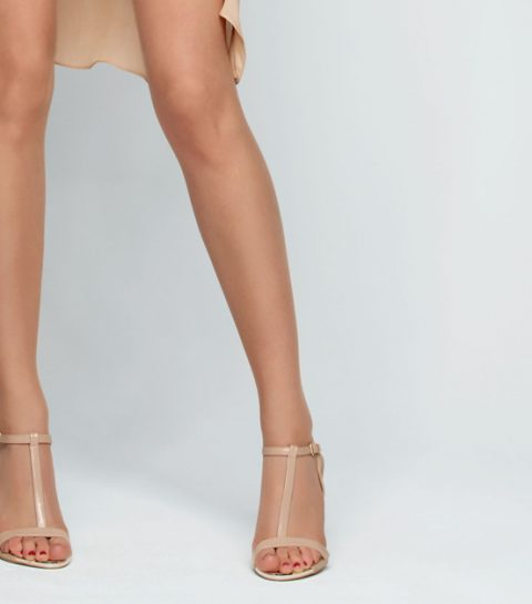 Fake bruine benen met een panty