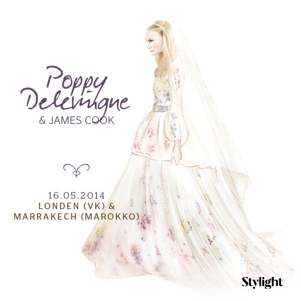 poppy delevingne, trouwjurk, chanel