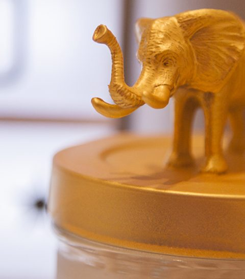 DIY: Bokalen met goudkleurige diertjes