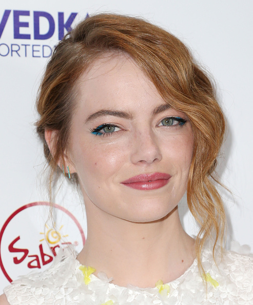 "LOS ANGELES, CA - JULY 09: Actress Emma Stone attends the Premiere of Sony Pictures Classics' ""Irrational Man"" at the Writer Guild of America Theatre on July 9, 2015 in Los Angeles, California. (Photo by Frederick M. Brown/Getty Images) *** Local Caption *** Emma Stone"