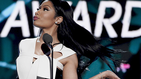 Nicki Minaj accepts the Coca-Cola viewers choice award at the BET Awards at the Microsoft Theater on Sunday, June 28, 2015, in Los Angeles. (Photo by Chris Pizzello/Invision/AP) ORG XMIT: CACJ381