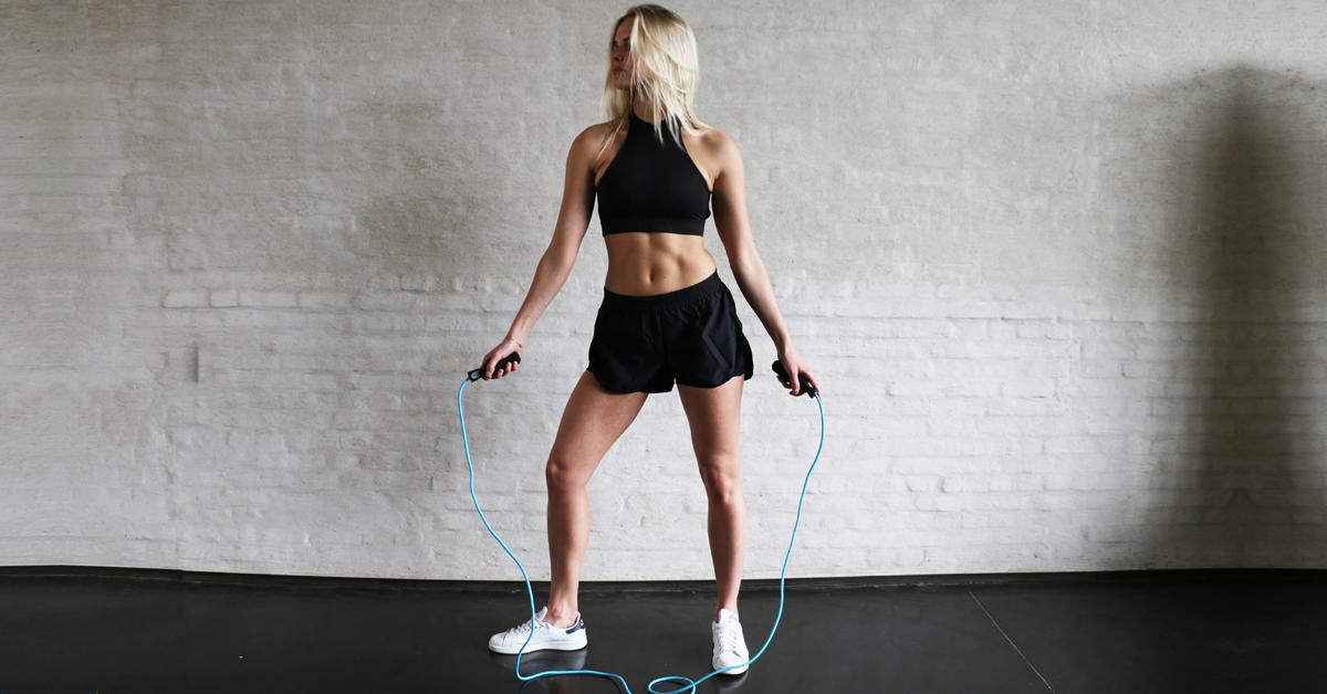 Calorieën verbranden touwtje springen